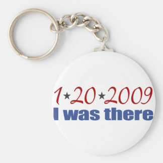 I was There 1-20-09 Obama Basic Round Button Keychain
