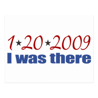 I was There 1-20-09 Obama Postcard