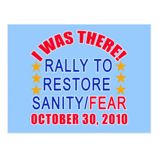 I WAS THERE at the Rally to Restore Sanity Tshirt Postcard