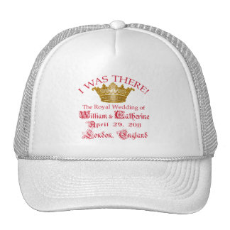 I Was There at the Royal Wedding Tshirts Mesh Hat
