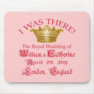 I Was There at the Royal Wedding Tshirts Mouse Pad
