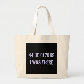 I was there: date stamped in history canvas bag