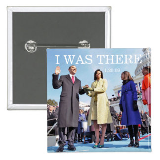I WAS THERE: Obama Family at Inaugural Ceremony Button