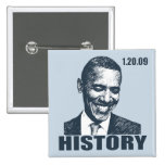 I WAS THERE - President Obama Inauguration Pinback Button