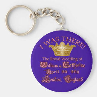 I Was There  Royal Wedding Memorabilia Basic Round Button Keychain