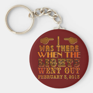 I Was There When the Lights Went Out NOLA Basic Round Button Keychain