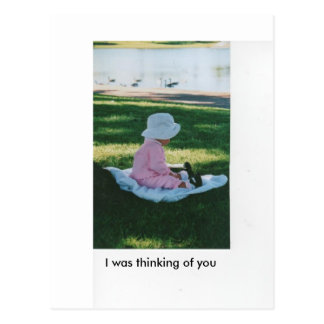 I was thinking of you postcard