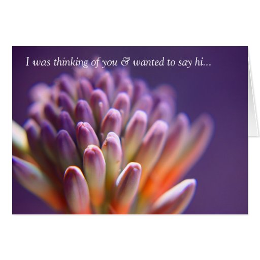 I was thinking of you & wanted to say hi card