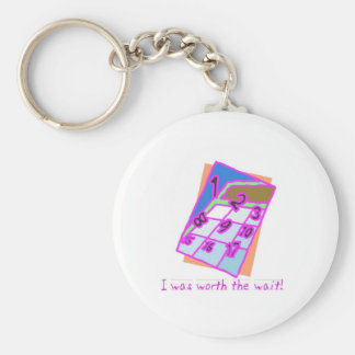 I was worth the wait!, girl key chains