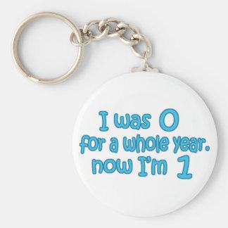 I Was Zero, Now I'm One Keychain