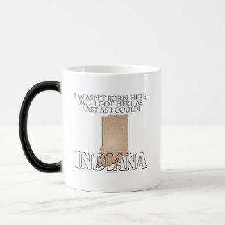 I wasn't born here...Indiana 11 Oz Magic Heat Color-Changing Coffee Mug