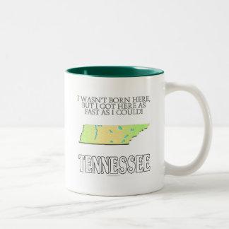 I wasn't born here...Tennessee Two-Tone Coffee Mug