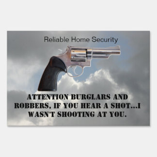 I WASN'T SHOOTING AT YOU LAWN SIGN