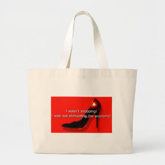 I wasn't shopping - I was stimulating the economy Tote Bags
