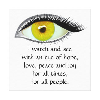 I watch and see golden eye canvas print