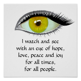 I watch and see poster