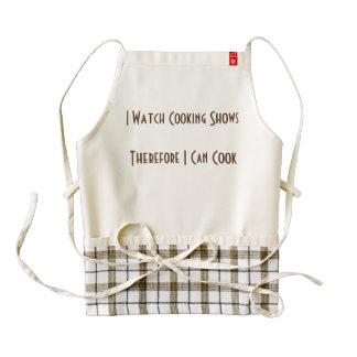 I Watch Cooking Shows Zazzle HEART Apron