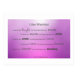 I Watch My Thoughts Post Cards