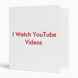 I Watch YouTube Videos Binder