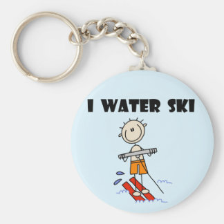 I Water Ski T-shirts and gifts Basic Round Button Keychain