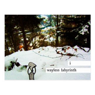 i wayless labyrinth postcard