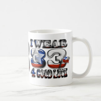 I Wear 33 4 Good Luck Chilean Miners Inspired Mug
