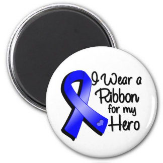 I Wear a Blue Ribbon For My Hero 2 Inch Round Magnet