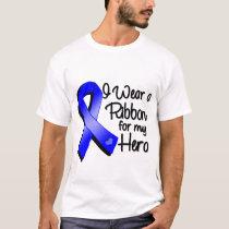 I Wear a Blue Ribbon For My Hero T-Shirt