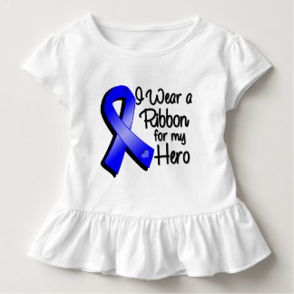 I Wear a Blue Ribbon For My Hero Tee Shirts