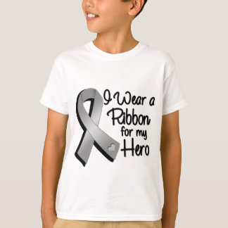 I Wear a Gray Ribbon For My Hero T-Shirt