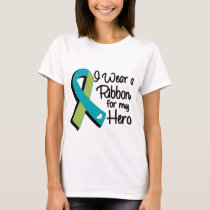 I Wear a Green and Teal Ribbon For My Hero T-Shirt