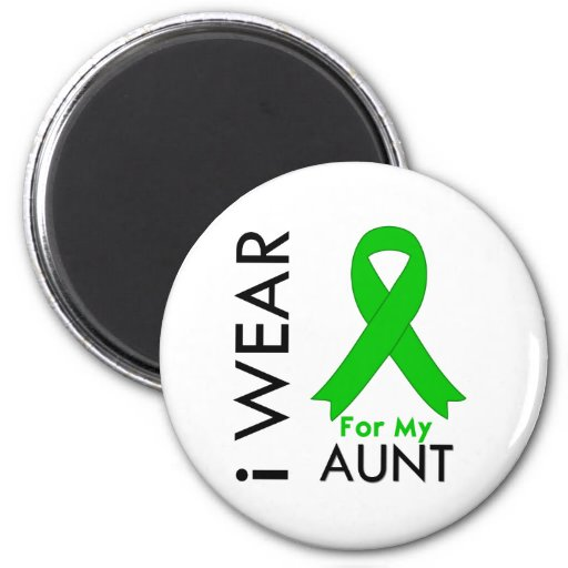 I Wear a Green Ribbon For My Aunt Refrigerator Magnet