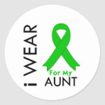 I Wear a Green Ribbon For My Aunt Classic Round Sticker