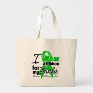 I Wear a Green Ribbon For My Brother Jumbo Tote Bag