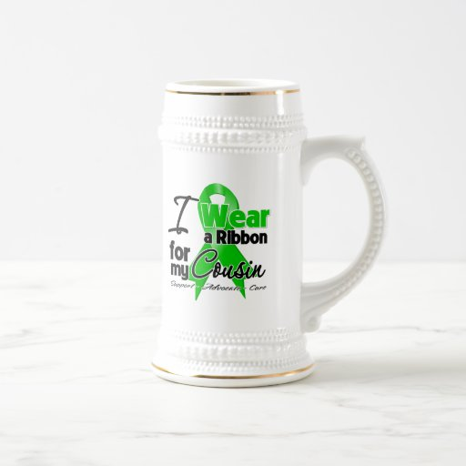 I Wear a Green Ribbon For My Cousin Mugs
