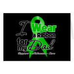I Wear a Green Ribbon For My Dad Cards