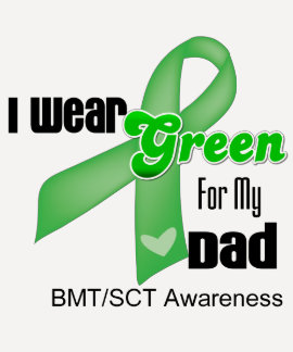 I Wear a Green Ribbon For My Dad Tee Shirts