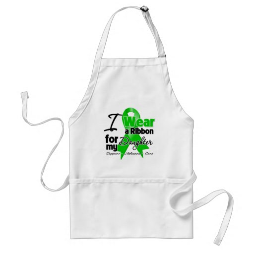 I Wear a Green Ribbon For My Daughter Adult Apron