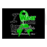 I Wear a Green Ribbon For My Daughter Greeting Cards