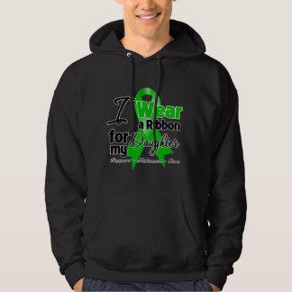 I Wear a Green Ribbon For My Daughter Hooded Pullover