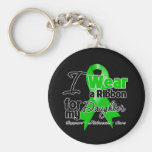 I Wear a Green Ribbon For My Daughter Keychains