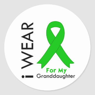 I Wear a Green Ribbon For My Granddaughter Sticker