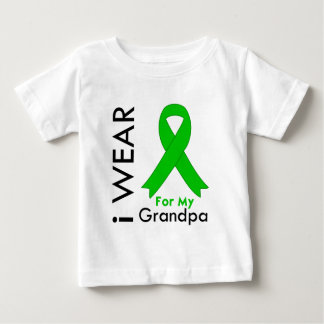 I Wear a Green Ribbon For My Grandpa Baby T-Shirt