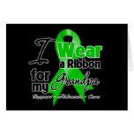 I Wear a Green Ribbon For My Grandpa Greeting Card