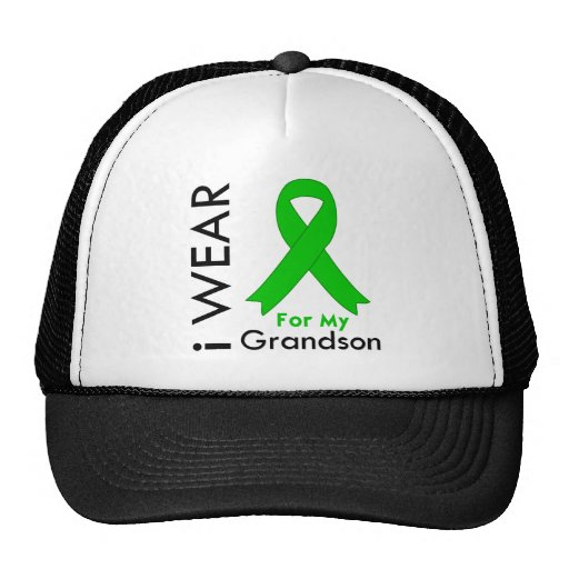 I Wear a Green Ribbon For My Grandson Trucker Hat