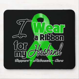 I Wear a Green Ribbon For My Husband Mouse Pad