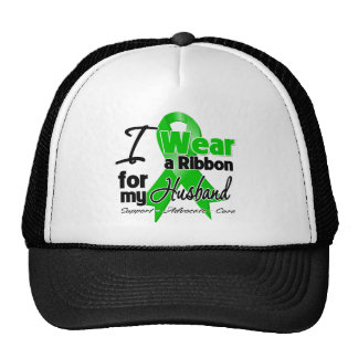 I Wear a Green Ribbon For My Husband Trucker Hat