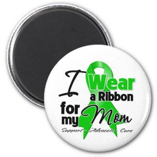I Wear a Green Ribbon For My Mom Refrigerator Magnet