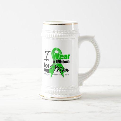 I Wear a Green Ribbon For My Mom Mugs