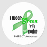 I Wear a Green Ribbon For My Mother BMT/SCT Stickers